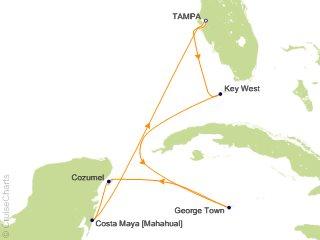 caribbean cruise map