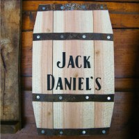 Jack Daniels barrel wall hanging