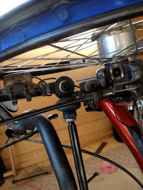 5 New Track rod in situ Wheelside 2