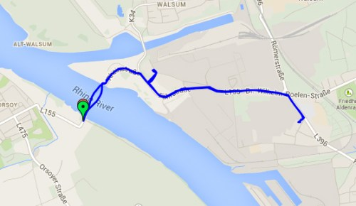 Rhine crossing track