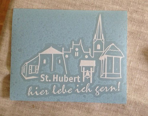 St Hubert Car Sticker
