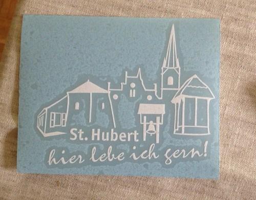 St Hubert Car Sticker