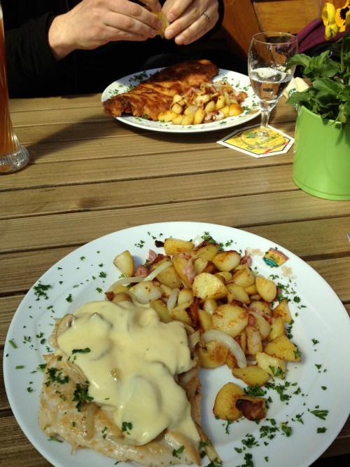 Traditional German lunch