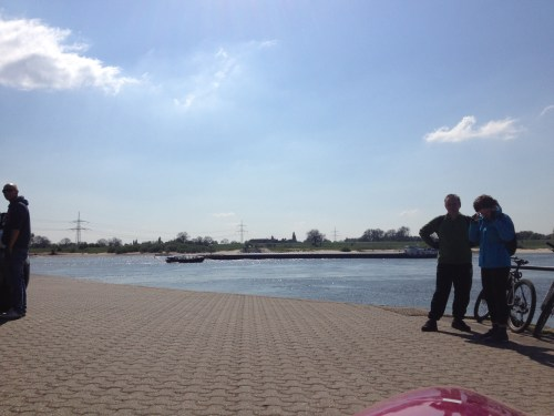 Waiting to cross the Rhein