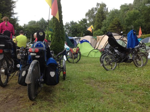 Bikes and tents