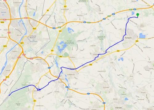Ride to Bracht track