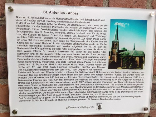 St Antonius Plaque