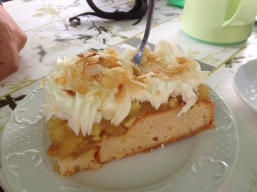 Apple and cream cake