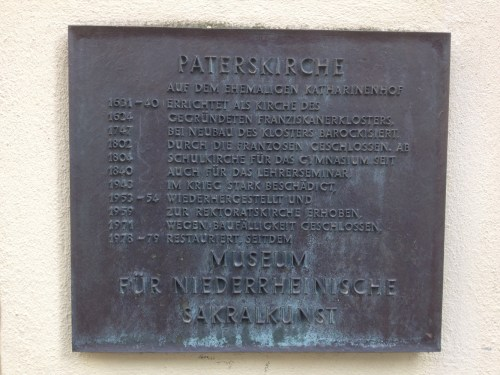 Paterskirche plaque