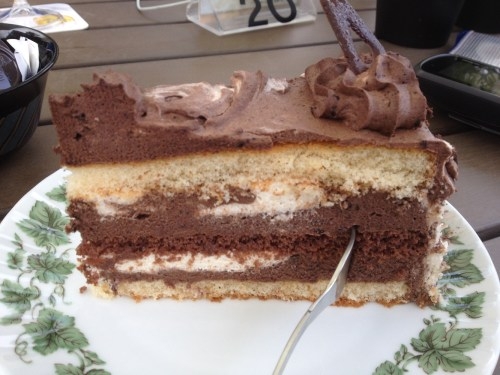 Choc layer cake