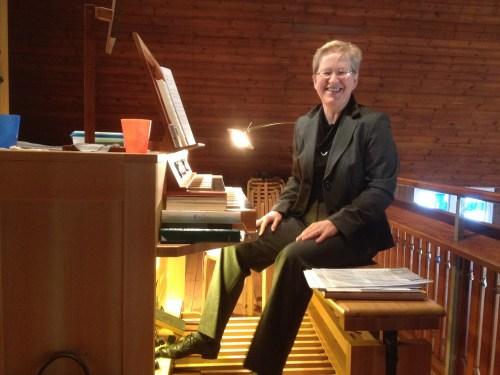 Anja at the organ