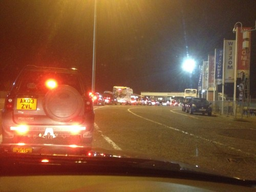 Queue at Harwich