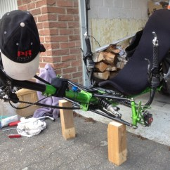 Wheelchair Killer Pull Out Chairs Steintrikes Wild One  Changing The Front Wheels Auntie