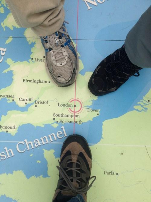 Feet on London