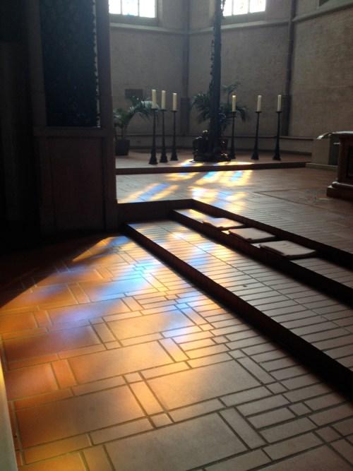 Newer Kevelaer Church Windows on floor