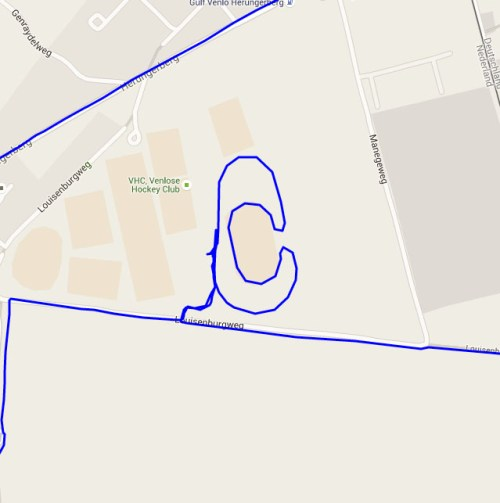 Racetrack track
