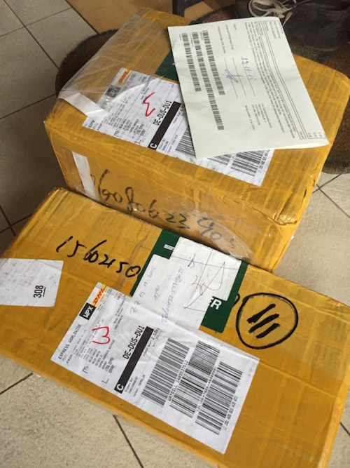 Motor arrives from China