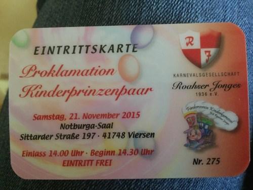 Proklamation ticket