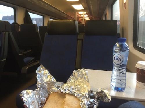 Turkey sarnies on train