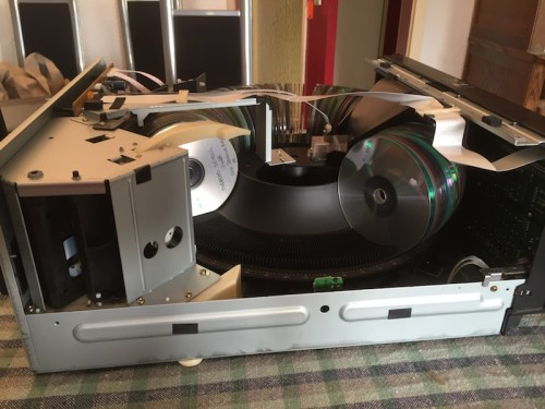 CD player side view