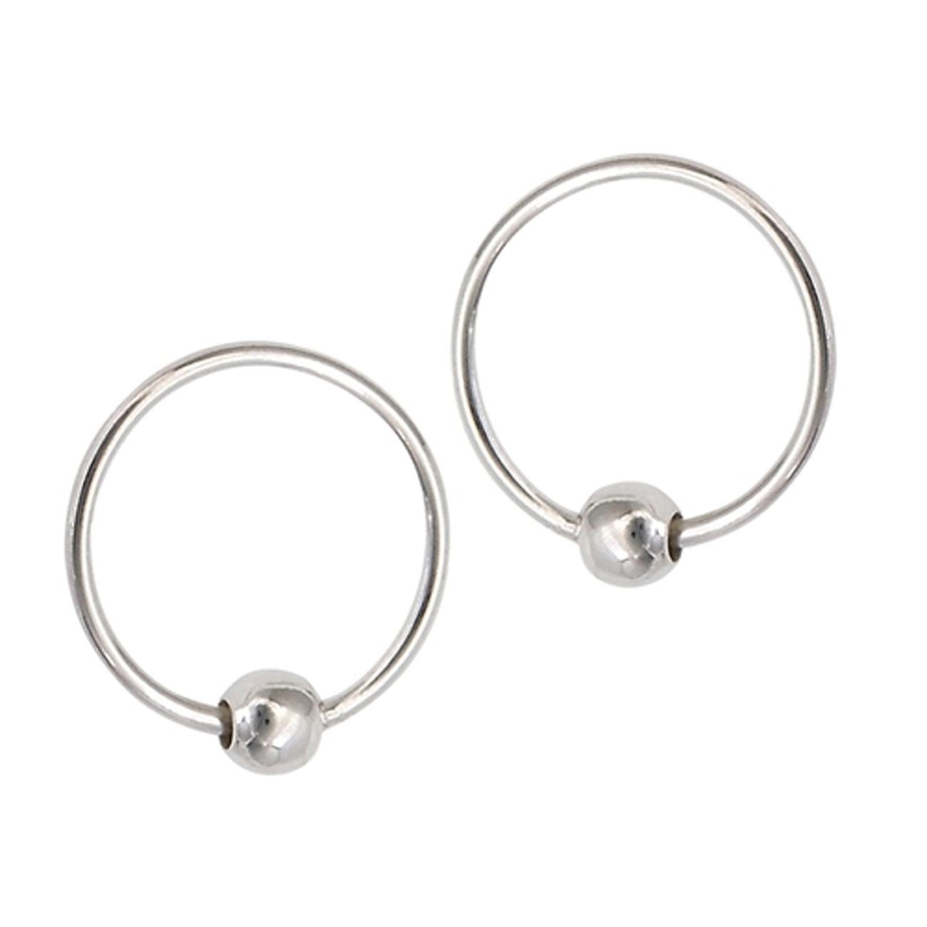 Sterling Silver 10mm Diameter Endless Hoop Earrings