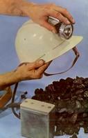 La lampe casque du mineur