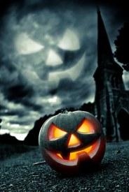 Citrouille Halloween et église - Aura Noire