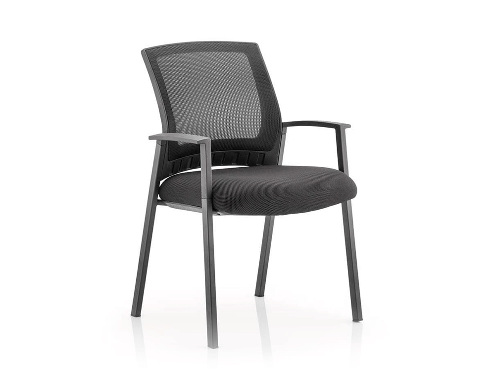 Posto – Visitor Chair with Black Mesh Back and Arms -