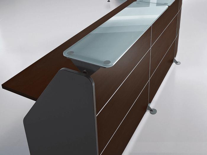 Benito 1 – Straight Reception Desk with Aluminium Contour Lines