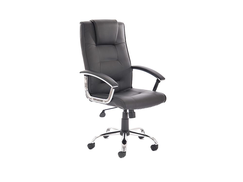 Bastian – Black Bonded Leather Executive Chair