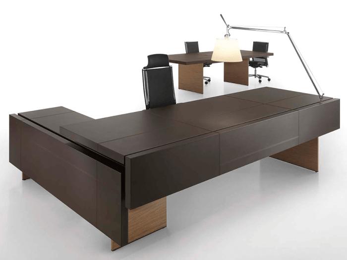 Maxine – Walnut Reception Desk with Optional Credenza Unit