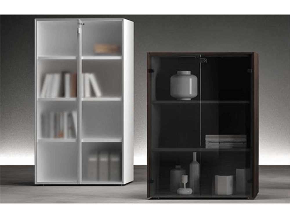 Tiffany – Woodside Storage Unit with Lockable Glass Door
