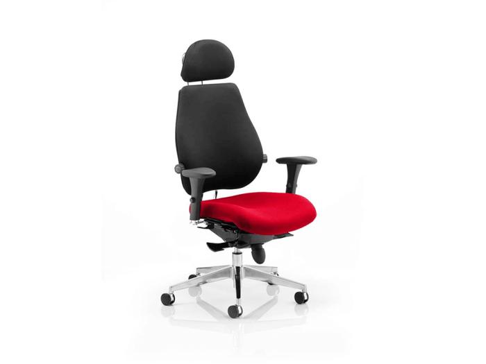 Selena – High Back Executive Chair in Multicolour with Headrest