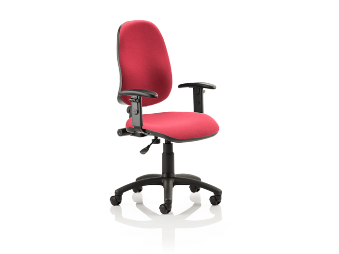 Esme 1 – Black Frame Task Operator Office Chair in Multicolour