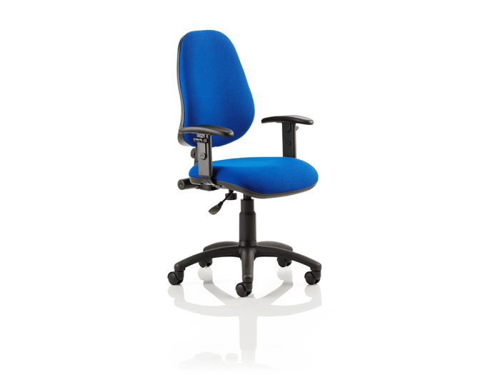 Esme 1 - High Back Fabric Operator Office Chair with Adjustable Arms