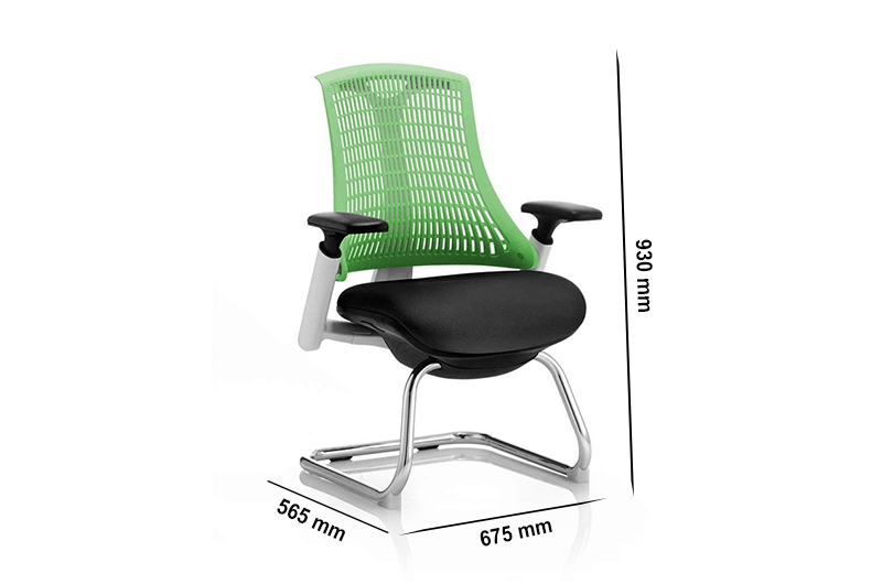 Echo – Visitor Chair with Cantilever Base and Arms in Multicolour