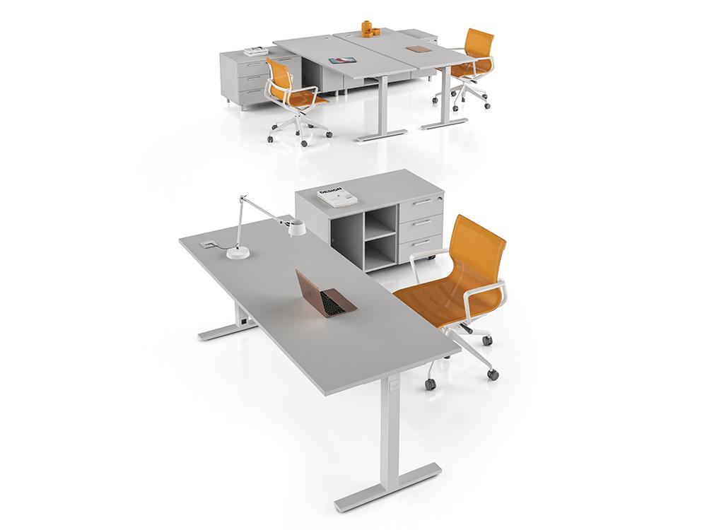 Nube -  Cloud Grey Square T Leg Office Desk