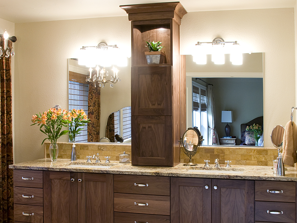Bathroom Vanity With Tower Cabinet  1500 Trend Home