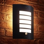Auraglow Dusk Till Dawn Daylight Pir Motion Detection Sensor Outdoor Wall Light Black Auraglow Led Lighting