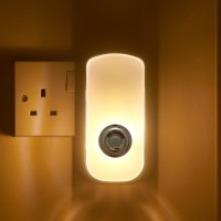 Plug In PIR Motion Sensor LED Night Light & Emergency