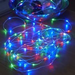 Micro Led String Lights Battery Operated Remote Controlled Outdoor Rgb 5m Auraglow Led Lighting