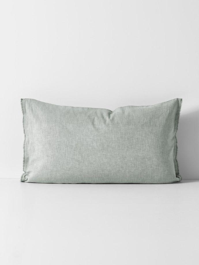 herringbone standard pillowcase limestone