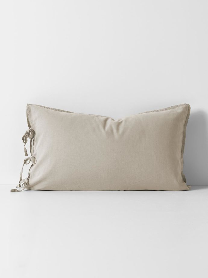 maison vintage standard pillowcase natural
