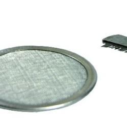 Edelstahl-Räuchersieb 8,5 cm mit Bürstchen