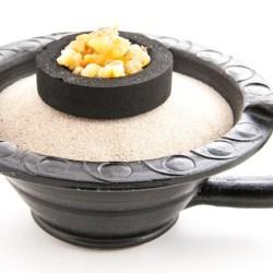 Makal schwarz - Räuchergefäß aus Ton