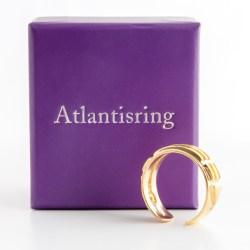 Atlantisring (Damengröße) vergoldet