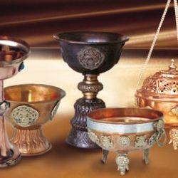 Kupfer- und Maharadschagefäße