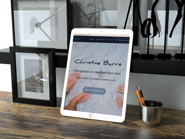 Création de site vitrine one page   Christine Barré, réflexologue plantaire