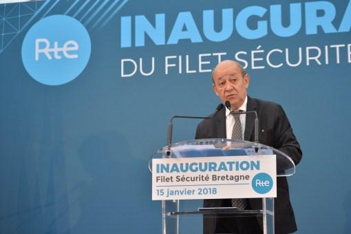 Inauguration Filet sécurité Bretagne RTE