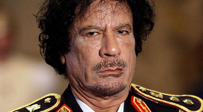 Donald Marshall: Muammar Gaddafi